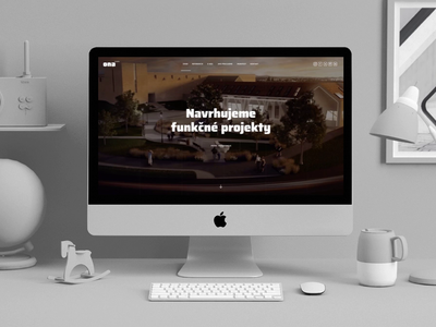 Homepage of architectural studio animation userinterface architecture mockup ona studio uidesign uxdesign ui webdesign