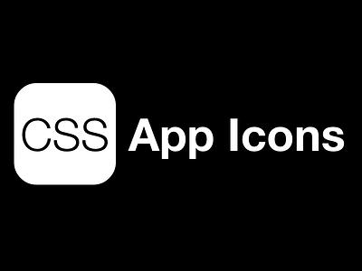 CSSAppIcons.com css app icon ios
