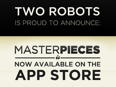 Masterpieces App is Available in the App Store ios iphone app