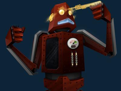 Red Robot - Final robot red illustration