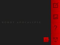 Robot Apocalypse Home Screen UI