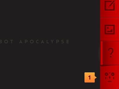 Robot Apocalypse Home Screen UI 2 iphone ios ui robot buttons notifications