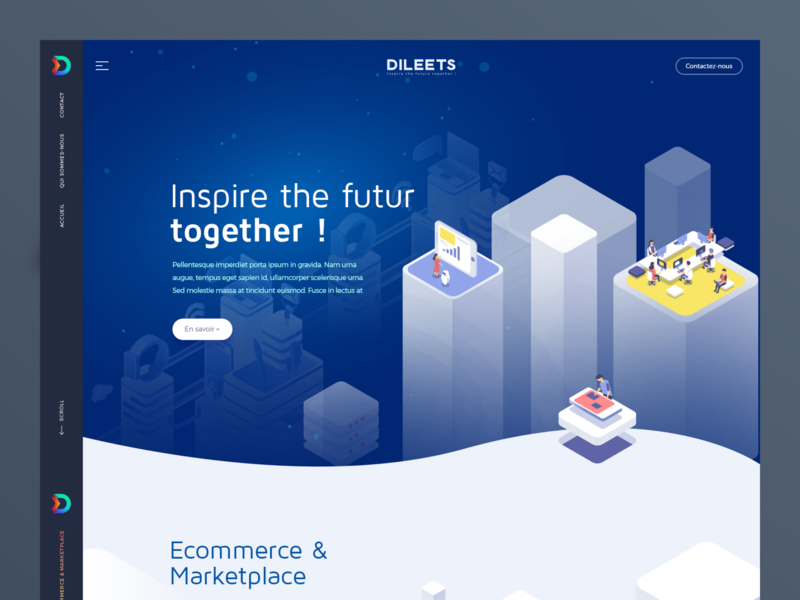 Dileets UI/UX homepage logo character identity website flat animation web icon ux typography branding vector ui design illustration