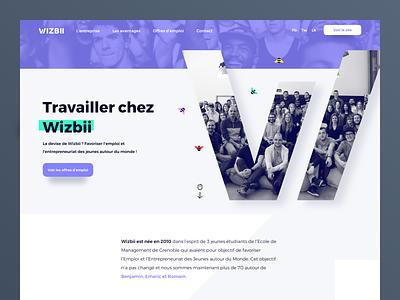Draft homepage corporate webdesign rebrand logo identity homepage animation web ux flat ui design branding