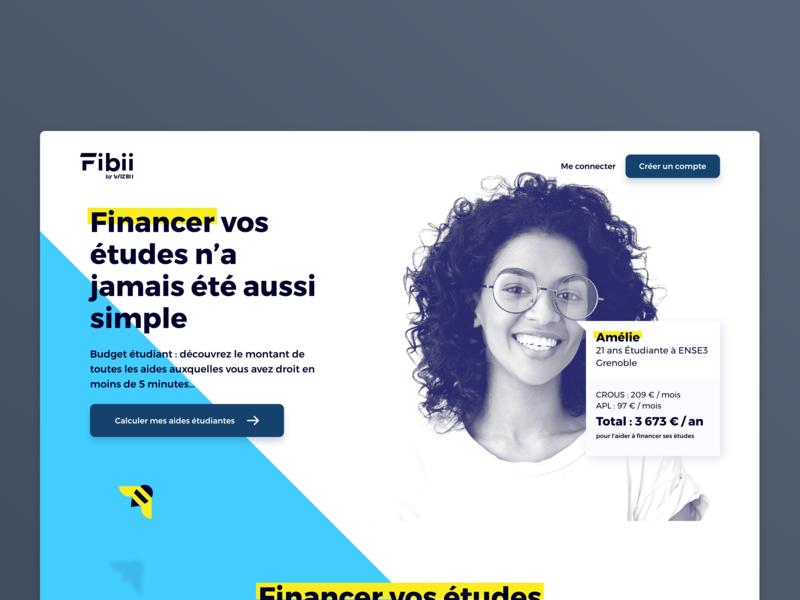 Rebrand Product Fibii product illustration icon website logo identity character animation webdesign rebrand homepage web ux flat ui design branding