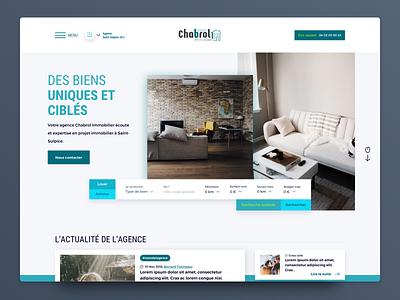 Real estate agency agency estate rebrand identity homepage web ux ui flat design branding