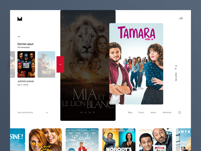 Project Cinema view branding product identity homepage web ux ui design