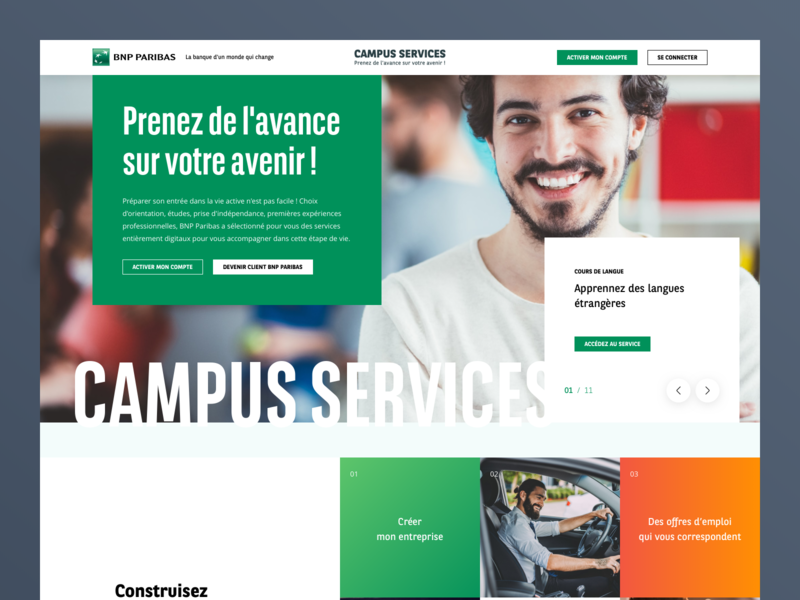 BNP Parisbas character product identity homepage web ui ux design branding