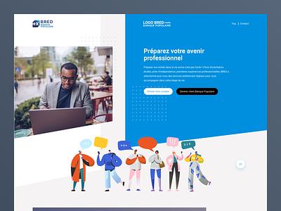 BRED Service en ligne product rebrand identity flat homepage web ui ux design branding