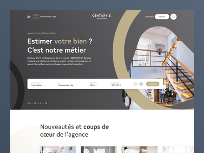 Century 21 Rebrand product rebrand ui identity flat homepage web ux design branding