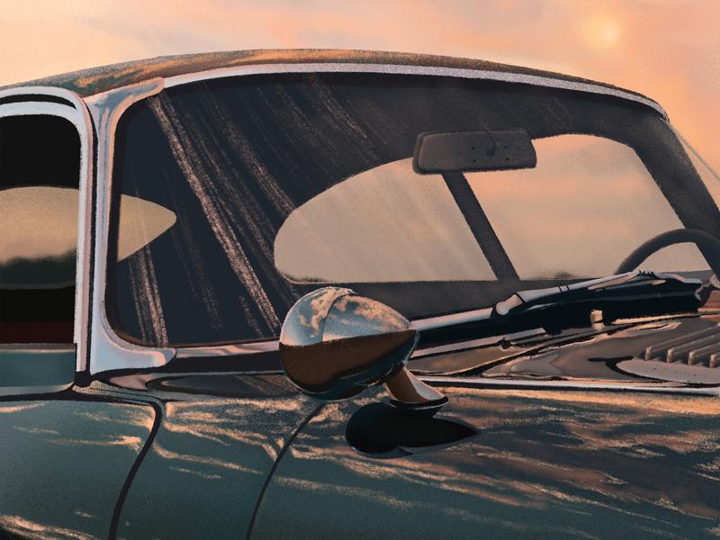 Jaguar Illustration art old fashion ipad pro draw jaguar car procreate artist handdraw fineart drawing illustration design