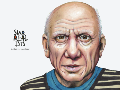 Surrealists Stamp Pablo Picasso