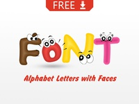 FREE Cartoon Fonts with Eyes
