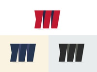 M Logo design logo illustration mudasir mudasir nazar minimal m alphabet m alphabet logo m