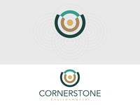 Environmental Concept Logo clean mudasir nazar environmental design logo concept logo design cornerstone environmental
