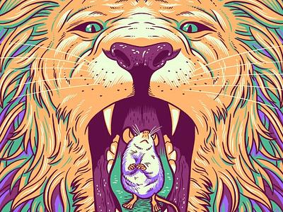 Jurado/Thune Poster poster artwork poster design drawing mouse lion comedy gigposter illustration poster art