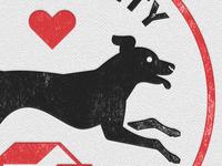 Letterpress-style Dog