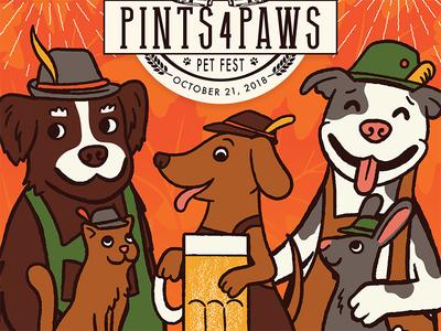 AWLA Pints 4 Paws Poster