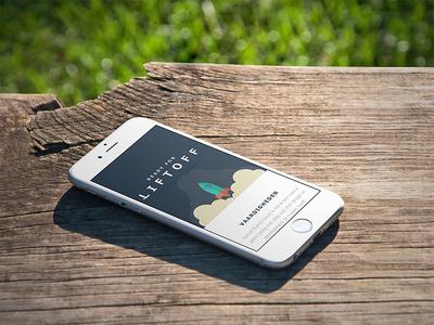White iPhone 6 On Wooden Park Bench app marketing ios apps startup marketing ux design design mockup digital pr responsive screenshot generator macbook imac business