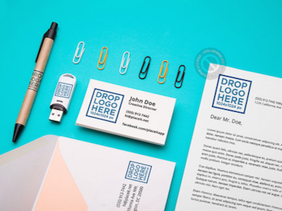 Branding Mockup Featuring an Assortment of Stationery Items