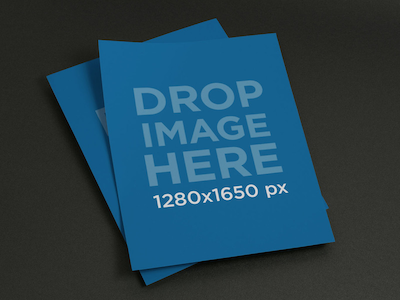 Mockup Template of a Set of Flyers
