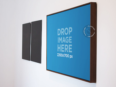 Poster Mockup in an Art Gallery