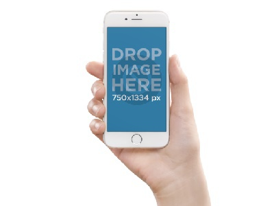 White iPhone Mockup Being Held Over a Flat Backdrop mockup template generator tool photorealistic mockup image marketing iphone stock photo mockup template iphone mockup template iphone template iphone mockup iphone