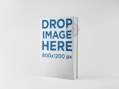Ebook Mockup In An Angled Position Over A Flat Backdrop By