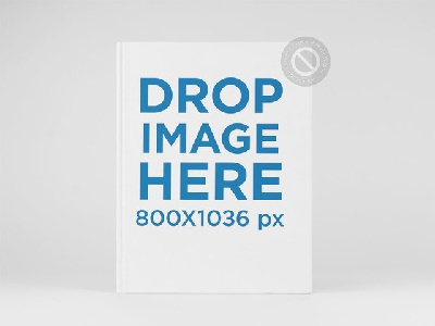 Hardcover Ebook Mockup Standing Over A Flat Surface By