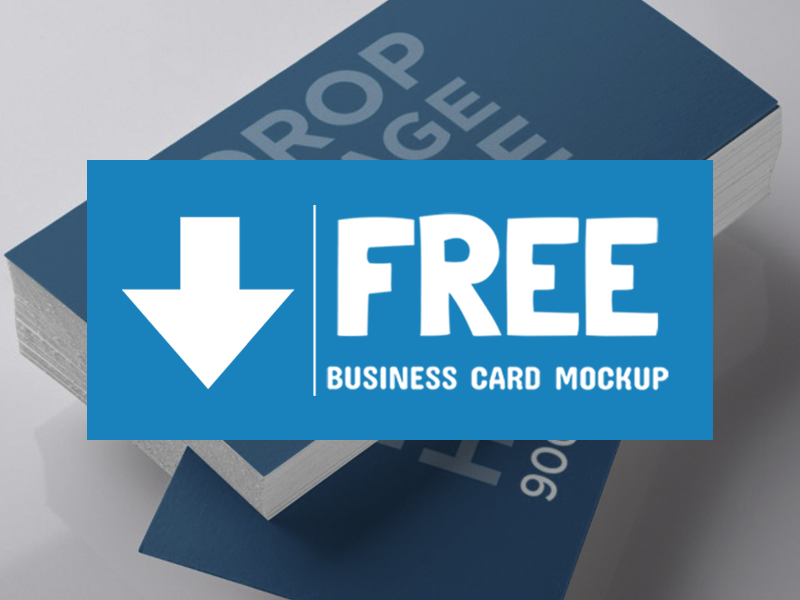 Free Business Card Mockup!