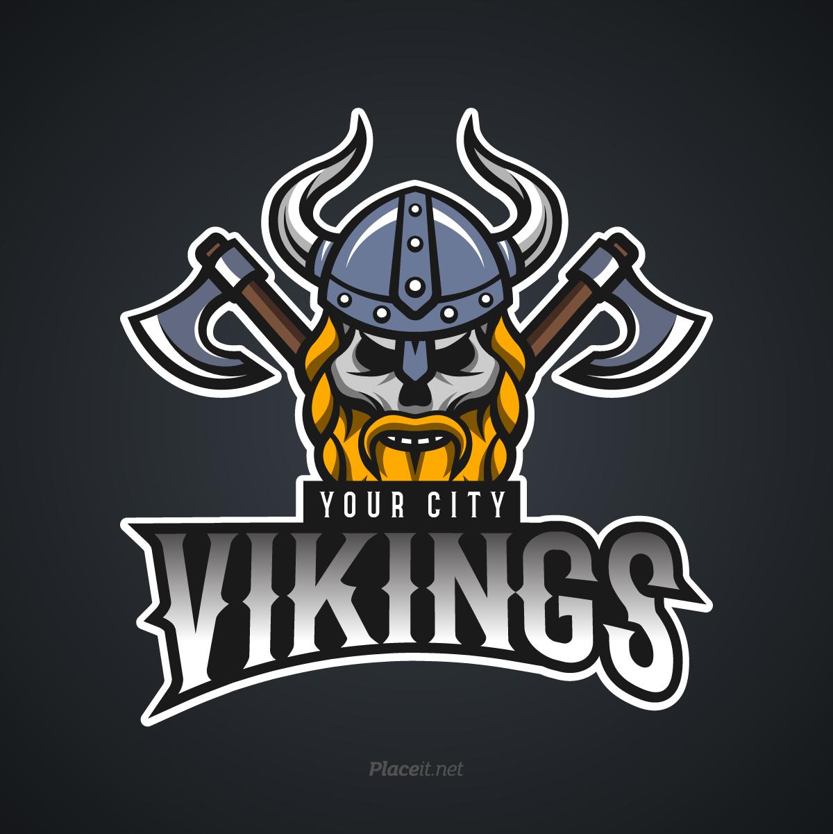 Vikings sports logo