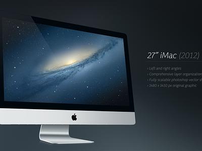 "Freebie! 27"" iMac PSD imac psd freebie breezi vector download apple"