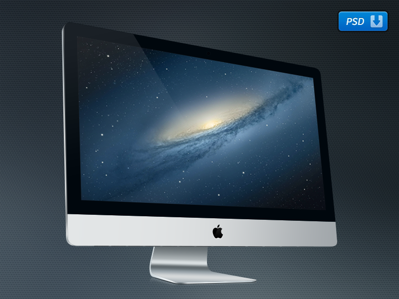 "Freebie! 27"" iMac PSD imac psd freebie breezi vector download apple"