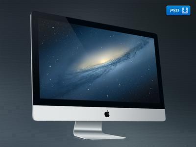 """Freebie! 27"""" iMac PSD"""