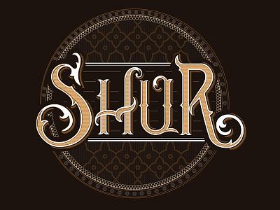 Shur typography shur azerbaijan lettering graphic mugham