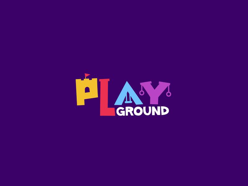 Playground Logo logo design playground brand typogaphy logo design concept logo