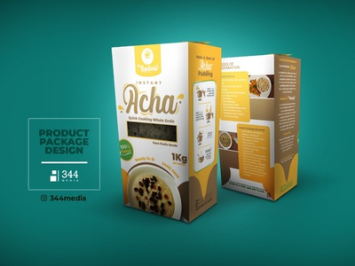 Product Package Design for Synfonio Foods- Acha product package product packaging design illustration design branding logo product product design