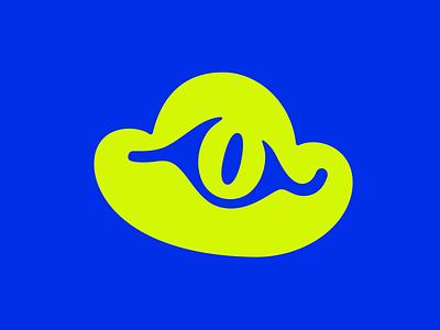 cloudzilla app godzilla icon logotype eye monster cloud flat vector branding logo