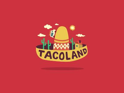 Taco Land logo lettering taco fastfood