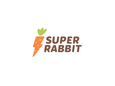 Super Rabbit print superhero lightning carrots super rabbit logo