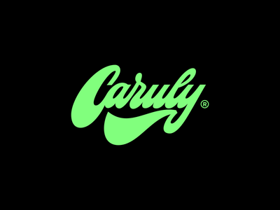 Caruly brand calligraphy art lettering logo