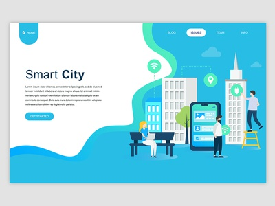 Smart Technology Landing Page Banner