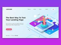 Website Landing page banner