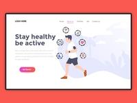Fitness Website Lending Banner