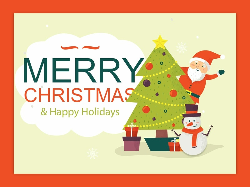 Merry Christmas website banner graphic design banner design design santa claus chrismas banner uiux design branding holiday cards happy holiday card design chrismas card merry christmas
