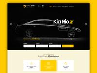 Car Website landing Page Ui