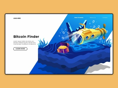 Bitcoin Website Banner UI