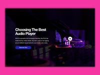 Audio Player Website Banner