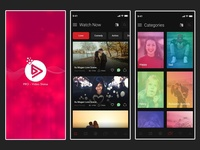 Video Watch Application UI