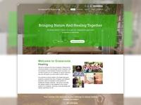 Natural Healing Website UI Design